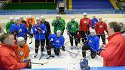 Донбасс провел тренировку в столичном Дворце спорта
