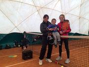 В Одессе тренируется двухлетний теннисист
