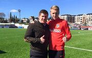 Юрий Ткачук тренируется с основой Атлетико