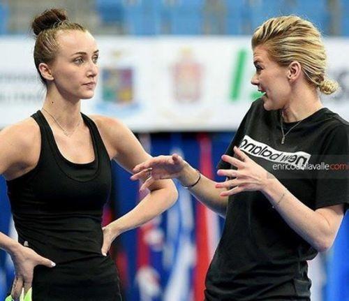 Фото дня. Анна Ризатдинова и Ирина Блохина в Пезаро