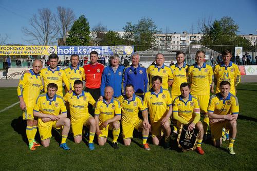 Сборная Украины среди ветеранов провела два матча на юге Украины