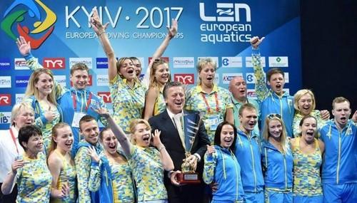 Сборная Украины впервые выиграла чемпионат Европы по прыжкам в воду