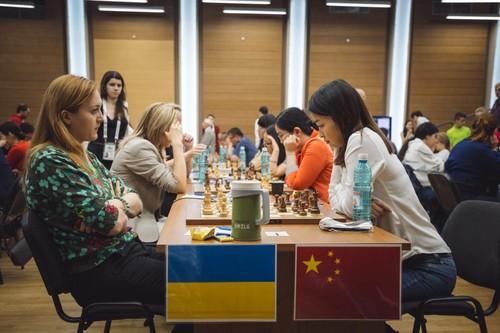 ЧМ по шахматам. Мужская и женская сборные Украины сыграли вничью