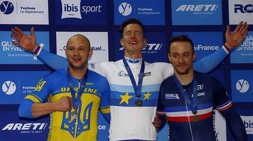 Украинцы завоевали 3 медали на чемпионате Европы по велотреку