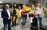 Серебряную призерку ЧМ в Лондоне Юлию Левченко встретили в Борисполе