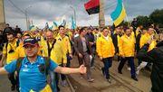 В Харькове прошел марш фанатов перед матчем с турками