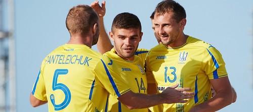 Сборная Украины начинает защиту чемпионского титула пляжного футбола