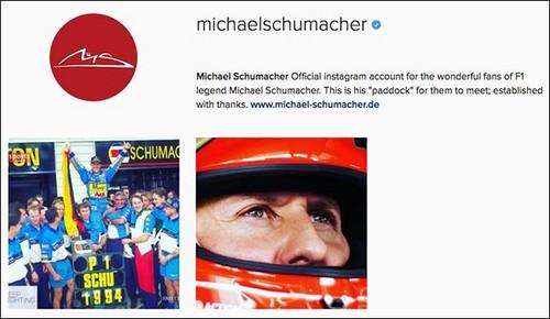 Пресс-служба Михаэля Шумахера открыла аккаунт спортсмена в Instagram