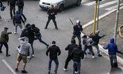 В Неаполе хулиганы напали на группу украинских болельщиков