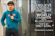 Фернандо АЛОНСО: «Я верю в успех McLaren Honda»