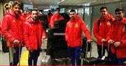 Сборная Испания прилетела в Киев