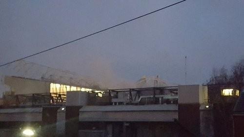 На стадионе Олд Траффорд случился небольшой пожар