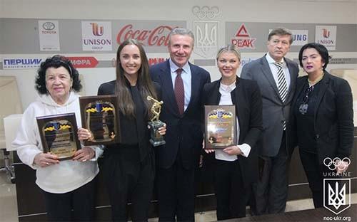 НОК Украины наградил лучших спортсменов сентября