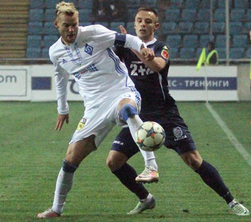 Динамо на Олимпийском побеждает Черноморец