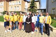 Українські фани відвідали хорватських дітей в загребському притулку