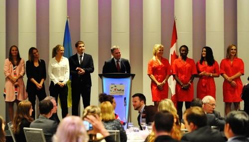 Сборная Украины побывала на официальном ужине игроков в Монреале