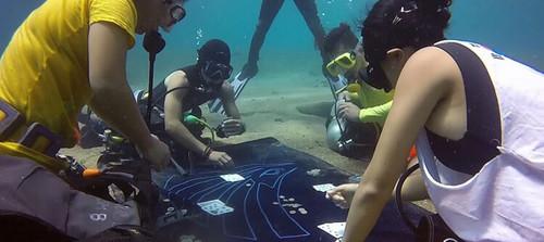 ВИДЕО. Дайверы обнаружили группу подводных покеристов