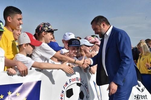 Павелко відвідав відкритий урок футболу у Дніпрі