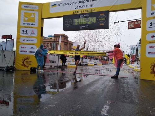 Гелетий и Михайлова победили на Днепровском полумарафоне