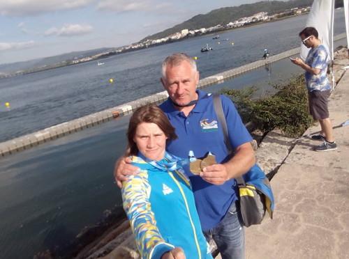 Українська каноїстка виборола дві медалі на етапі КС в Португалії