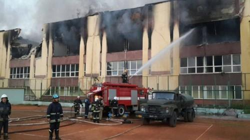 Во Львове сгорела база, на которой тренировались олимпийцы