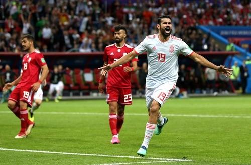 Диего Коста признан лучшим игроком матча Иран — Испания