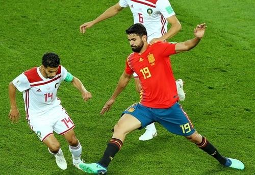 Испания отыгралась в матче с Марокко в компенсированное время