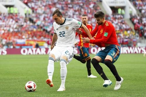 Испания – Россия – 1:1. Гол Дзюбы