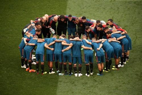 Испания сделала 1000 передач в матче с Россией