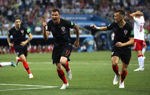 Хорватия – Дания. Гол Марио Манджукича