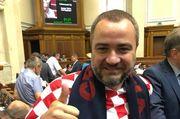 ФОТО ДНЯ. Павелко пришел в парламент в футболке сборной Хорватии