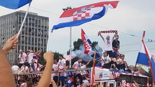 Как в Загребе встретили сборную Хорватии
