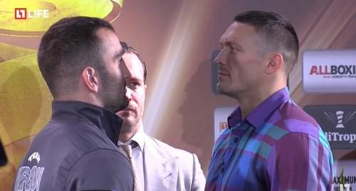 Усик - Гассиев: дуэль взглядов участников финала WBSS (Видео)