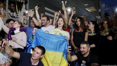 Встреча Усика в Киеве: Многая лета и Слава Украине!