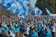ВИДЕО ДНЯ. Марш фанатов Зенита в Минске перед матчем с Динамо