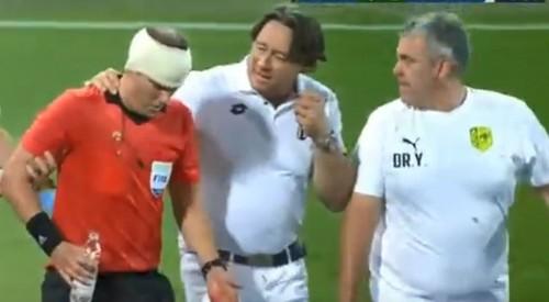 Фанат, разбивший голову арбитру на матче ЛЕ, задержан