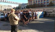 ВИДЕО ДНЯ. Фаны Днепра и Металлиста провели общий марш против Днепра-1