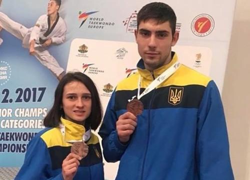 Украинцы завоевали две медали на ЧЕ по тхэквондо