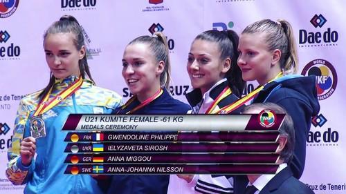 Украинские каратисты завоевали 3 медали на молодежном чемпионате мира