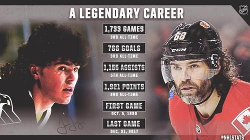 Ягр покинул НХЛ. Карьера великого чеха в цифрах