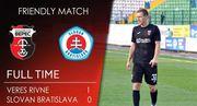 Верес минимально выиграл у Слована в контрольном матче