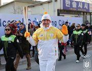 Сергій Бубка взяв участь у естафеті олімпійського вогню в Кореї