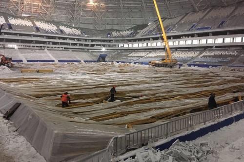 На строящемся к ЧМ-2018 стадионе в Самаре обвалилась конструкция
