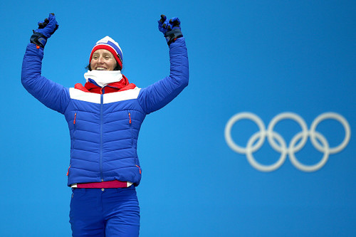 Бьорген установила рекорд по общему числу медалей на зимних Играх