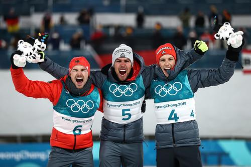 Пхенчхан-2018. Немцы завоевали все медали в лыжном двоеборье