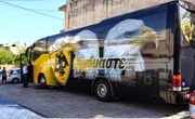 Поліція затримала 4-х осіб за пошкодження автобуса з фанатами АЕКа