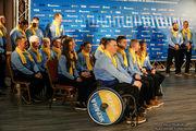 Украинских паралимпийцев провели на Игры в Пхенчхан