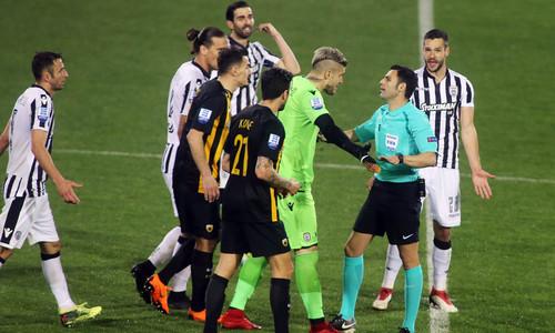 Матч ПАОК - АЕК был прерван из-за незасчитанного гола