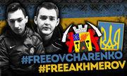 Украинские фанаты поддержали акцию «Свободу Овчаренко и Ахмерову»