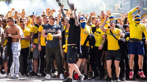 ВИДЕО ДНЯ. Фанаты Брондбю ярко отпраздновали победу над Копенгагеном